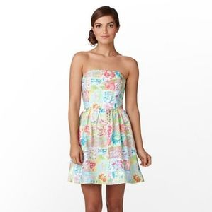 LILLY PULITZER Lottie State of Mind Patchwork Dres